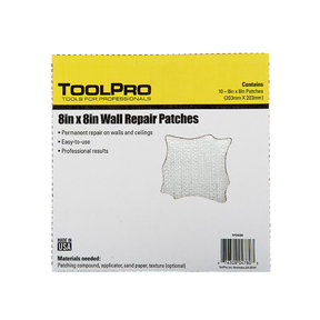 "Drywall Patch, 8"" x 8"", 10-Pack"