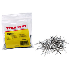 "Pull Rivets, White, 1/8"", 100-Pack"