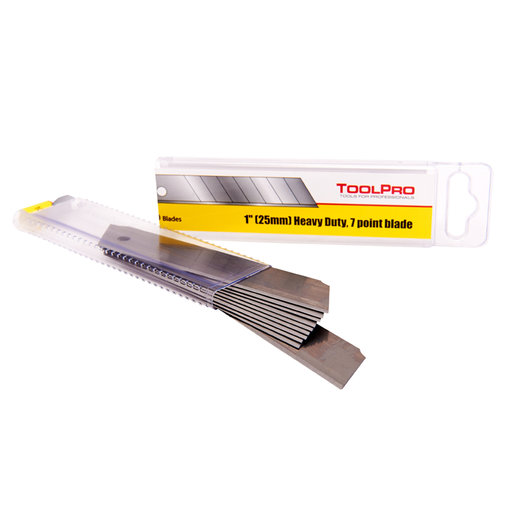 """View a Larger Image of Snap Knife Blades, 1"""" x .7mm Thick, Heavy Duty, 10-Pack"""