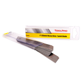 """Snap Knife Blades, 1"""" x .7mm Thick, Heavy Duty, 10-Pack"""