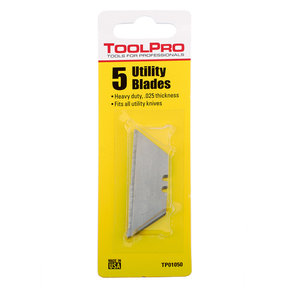 "Utility Blades, .025"" HD, 5-Pack"