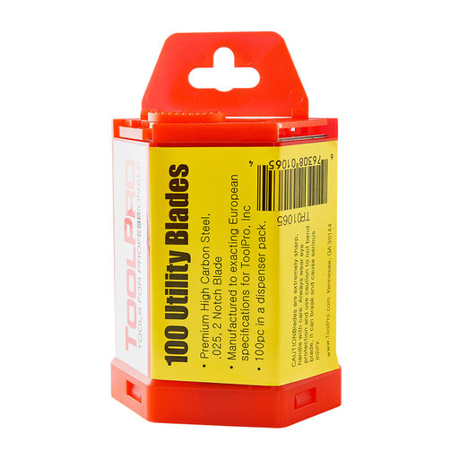 View a Larger Image of Utility Blades in Dispenser Pack, 100-Piece