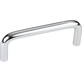 "Torino Wire Pull, 3"" C/C, Polished Chrome"
