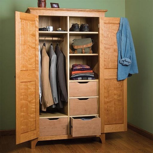 View a Larger Image of Traditional Cherry Wardrobe - Paper Plan