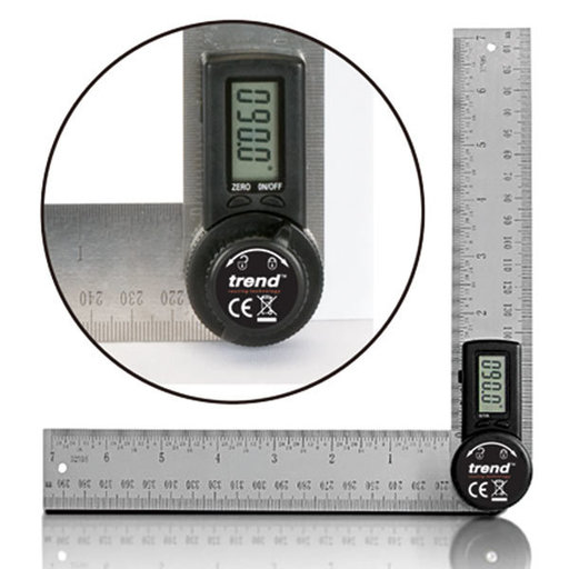 View a Larger Image of Digital Angle Rule - 7 inch