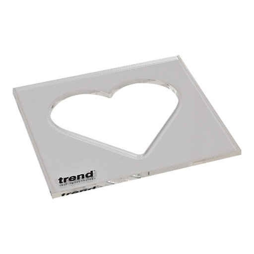 View a Larger Image of Template Inlay - Heart