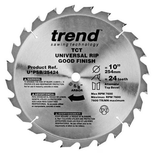 "View a Larger Image of U*PSB/25424 Pro Circular Saw Blade 10"" x 24 Tooth"