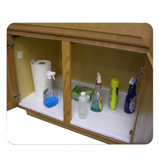 View a Larger Image of Trimmable Under Sink Tray for 30 in. Base Cabinet
