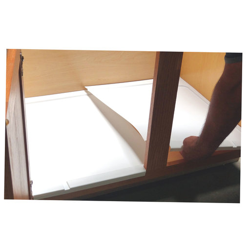 View a Larger Image of Trimmable Under Sink Tray for Base Cabinets from 39 to 55 inches