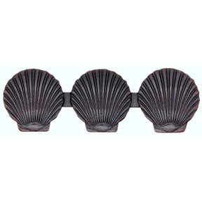 Triple Scallop Seashell Pull, Oil Rubbed Bronze