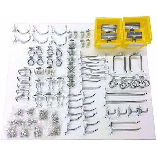 View a Larger Image of Triton 83 Pc Steel Hook and Bin Assortment for DuraBoard or Pegboard