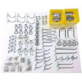 Triton 83 Pc Steel Hook and Bin Assortment for DuraBoard or Pegboard
