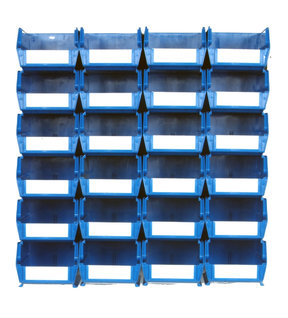 Blue 26 PC Wall Storage Unit - Medium