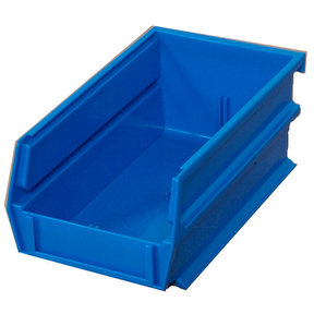 Blue Stacking, Hanging, Interlocking Bins, 10 Ct