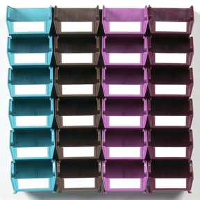 Multi-Colored 26 PC Wall Storage Unit - Small
