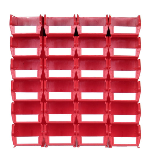 View a Larger Image of Red 26 PC Wall Storage Unit - Medium
