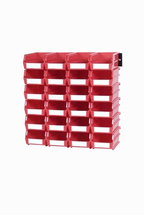 Triton Red 26 PC Wall Storage Unit - Small