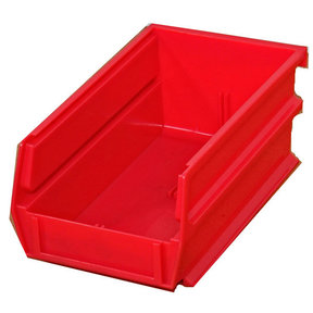 Triton Red Stacking, Hanging, Interlocking Bins, 10 Cnt
