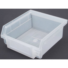 Translucent Hanging, Nesting Bins with White Identification Lables, 30 Cnt
