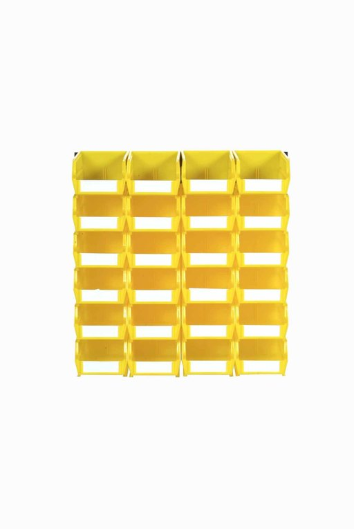 View a Larger Image of Yellow 26 PC Wall Storage Unit - Small