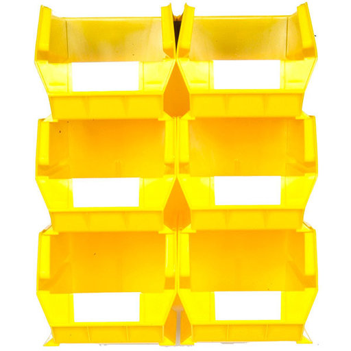 View a Larger Image of Yellow 8 PC Wall Storage Unit - Extra Large