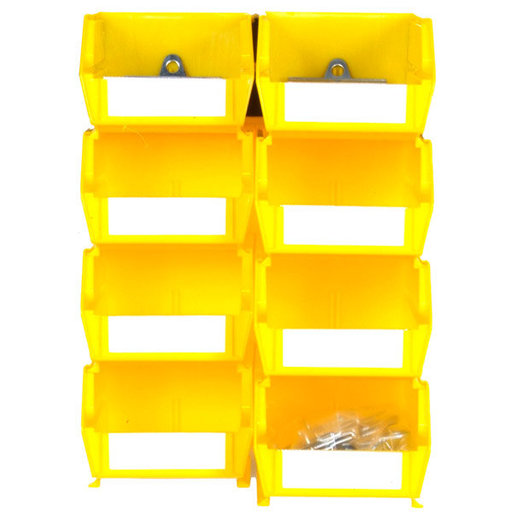 View a Larger Image of Triton Yellow Hanging Bin and BinClips Kits, 30 Cnt