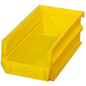 Yellow Stacking, Hanging, Interlocking Bins, 10 Cnt