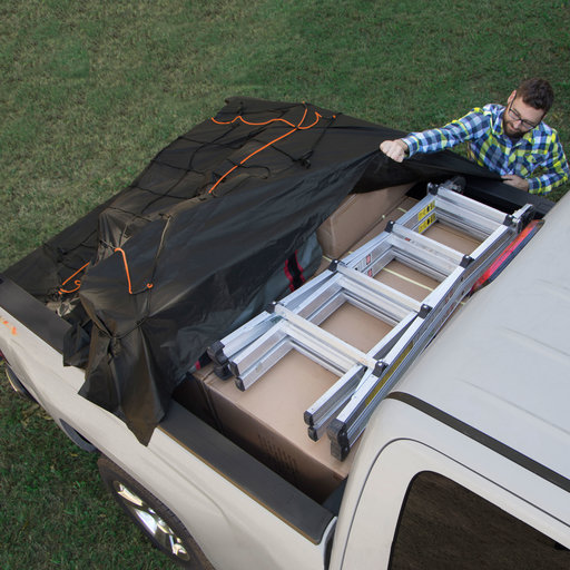 View a Larger Image of Truck Bed Cargo Net with Built-In Tarp