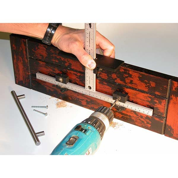 Cabinet Hardware Jig with Shelf Pin / Long Handle Jig