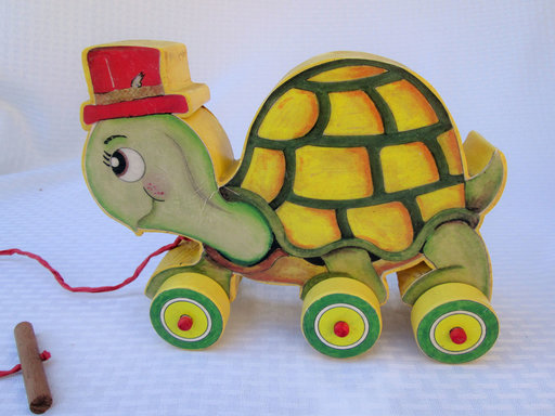 View a Larger Image of Turtle Pull Toy  Woodworking Pattern and PictureTURTLE PULL TOY