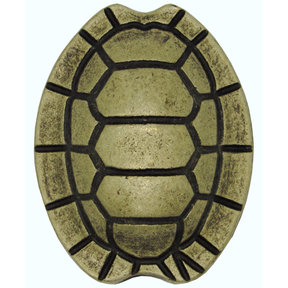 Turtle Shell Knob, Brass Oxide
