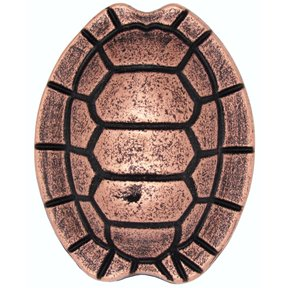 Turtle Shell Knob, Copper Oxide