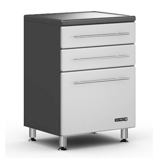 View a Larger Image of Ulti-MATE Three Drawer Base Cabinet in Starfire Pearl, Model GA-04SW