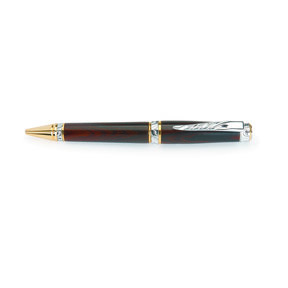 Ultra Cigar Ballpoint Pen Kit - Chrome and Gold Accents