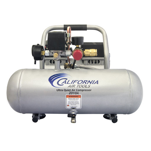 View a Larger Image of 1HP 2 Gallon Oil-Free Aluminum Tank Air Compressor with Nail Gun Kit