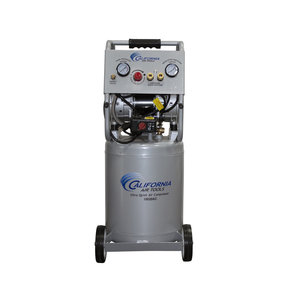 Ultra Quiet and Oil-Free  2 Hp, 10 Gal. Aluminum Tank Air Compressor  w/Auto Drain