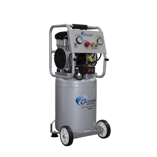 View a Larger Image of 2HP 10 Gallon Oil-Free Aluminum Tank Air Compressor with Auto Drain Valve
