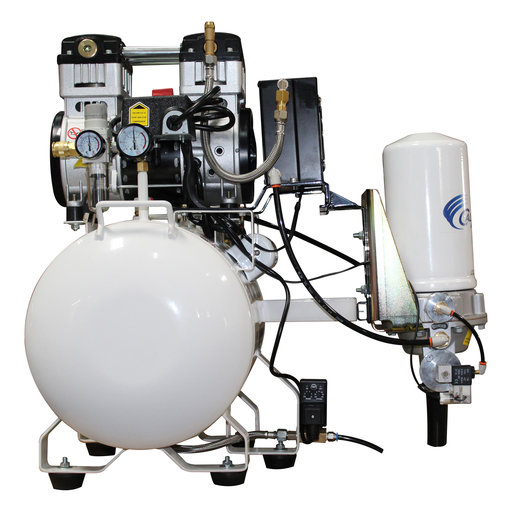 View a Larger Image of 2HP 220V 10 Gallon Oil-Free Steel Tank Air Compressor with Air Drying System