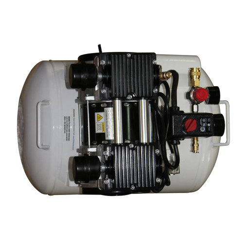 View a Larger Image of 2HP 220V 10 Gallon Oil-Free Steel Tank Air Compressor with Auto Drain Valve