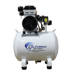 Ultra Quiet and Oil-Free 2 HP, 10 Gallon Steel Tank Air Compressor with Auto Drain Valve