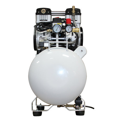 View a Larger Image of 2HP 10 Gallon Oil-Free Steel Tank Air Compressor