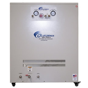 Ultra Quiet and Oil-Free 4 Hp, 20 Gal. Air Compressor w/ Air Drying System in Sound Proof Cabinet
