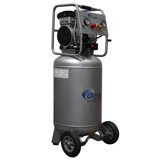 View a Larger Image of 2HP 220V 20 Gallon Oil-Free Steel Tank Air Compressor
