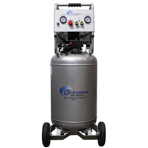 View a Larger Image of 2HP 20 Gallon Oil-Free Steel Tank Air Compressor