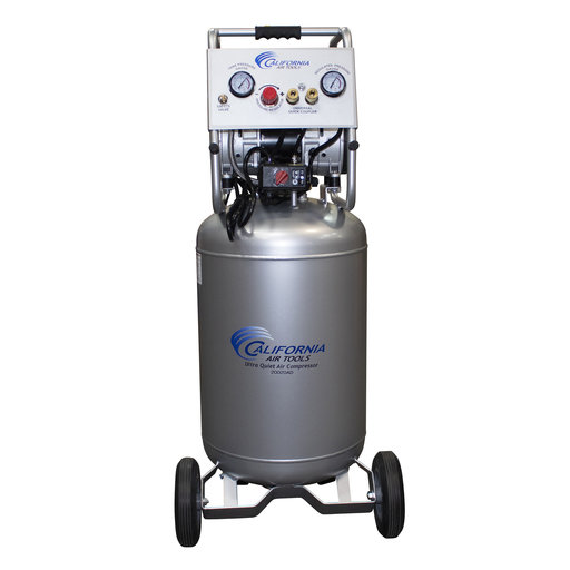 View a Larger Image of 2HP 220V 20 Gallon Oil-Free Steel Tank Air Compressor with Auto Drain Valve