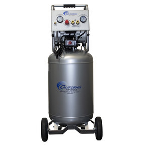 Ultra Quiet and Oil-Free Air Compressor 2 HP, 20 Gallon Steel Tank with Automatic Drain Valve