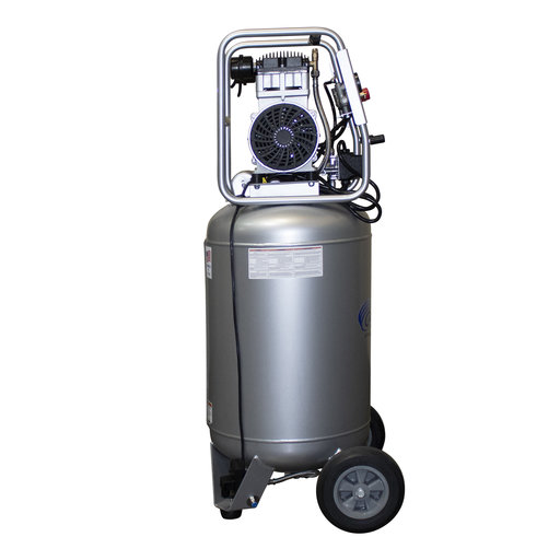 View a Larger Image of 2HP 20 Gallon Oil-Free Steel Tank Air Compressor with Auto Drain Valve