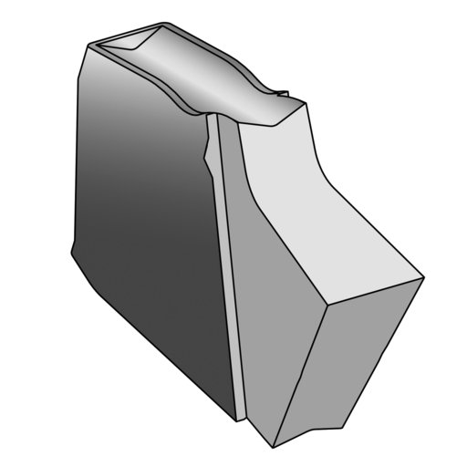 View a Larger Image of Ultra-Shear Square Insert for Parting Tool