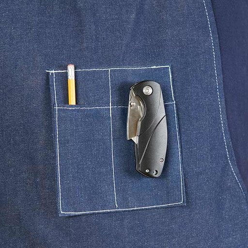 View a Larger Image of Utility Liner Lock Folding Knife w/LED Light