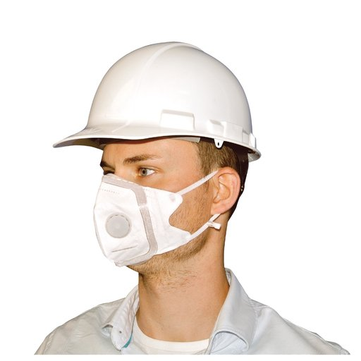 View a Larger Image of V-Fold Mask with Valve, Large, 3-pack